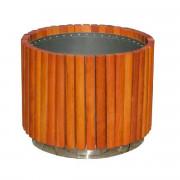 Jardinière ronde en bois