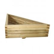 Jardinière triangulaire en bois - Dim : 80 x 80 x 42 - 100 x 100 x 52 ou 150 x 150 x 52 cm