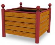 Jardinières carrées en bois - Dimensions (Lxlxh) mm : 1020 x 420 x 635