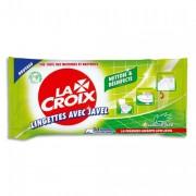 JAVEL LACROIX Paquet de 50 lingettes multi usages nettoyantes, désinfectantes avec - La Croix
