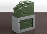 Jerrican métallique 20 litres et support - Pour véhicule professionnel - Capacité : 20 L