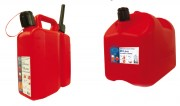 Jerricans pour essence en plastique - Capacité (L) : 5 - 10 - 20.