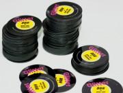 Jeton rond - Polyester 0,65 mm - coins ronds - brillant miroir - laminage 2 faces