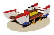 Jeu à bascule sur ressort bateau - Dimensions (L x P x H) cm : 125 x 340 x 105