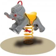 Jeu à bascule sur ressort éléphant - Dimensions (L x P x H) cm : 95 x 40 x 90