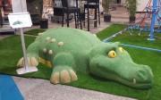 Jeu caoutchouc crocodile 3D pour aire de jeux - Dimensions (H x L x l) : 80 x 200 x 360 cm