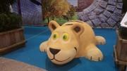 Jeu caoutchouc tigre 3D pour aire de jeux - Dimensions (H x L x l) : 80 x 225 x 165 cm