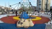 Jeu caoutchouc vache 3D pour aire de jeux - Dimensions (H x L x l) : 80 x 170 x 320 cm
