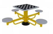 Jeu d'échec en extérieur - Table d'extérieur en acier pour jeux d'echecs