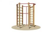 Jeu d'escalade en bois - Dimensions (L x P x H) cm : 195 x 195 x 250