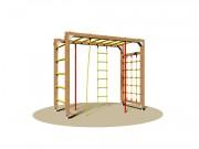 Jeu d'escalade pour enfants - Dimensions (L x P x H) cm : 120 x 250 x 220