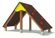 Jeu d'escalade pour enfants de 2 à 8 ans - Dimensions (L x l x H) mm :  4400 x 1100 x 2200