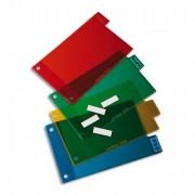 Jeu d'intercalaires pour fiches bristol 4 positions à onglets format 14,8x21 cm, en PVC 15/100e - Elba