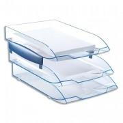Jeu de 2 réhausses pour corbeille à courrier ICE BLUE - CEP