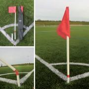 Jeu de 4 poteaux de corner flexibles - Longueur poteau : 180 cm - PVC flexible
