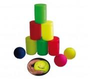 Jeu de boules Chamboul'tout en mousse - Pyramide (H x l) cm : 30 x 21