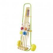 Jeu de croquet junior - 4 maillets junior (72cm)+  4 boules en bois + 6 arceaux de précision