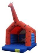 Jeu gonflable de sauts girafe - Dimensions (m) : 4,5 x 4,5 x 6