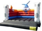 Jeu gonflable de sauts gros lapin - Dimensions (m) : 5 x 5 x 4