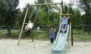 Jeu jardin pour enfant - Longueur hors tout : 3.17 m - Hauteur de la poutre : 2.50 m