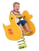 Jeu sur ressort canard - Tranche d'âge 3 à 6 ans