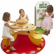 Jeux enfant pour salle d'attente - Table de construction à jouer, puzzle, jeu de l'oie...
