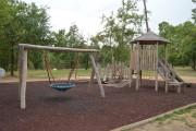 Jeux enfants extérieurs - Ensemble harmonieux en bois de robinier