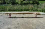 Jeux poutre sur ressort - En bois de robinier - Poutre d'équilibre