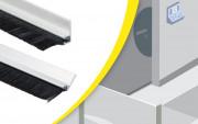 Joint balai pour porte à visser - MAtière : Aluminium/ Nylon - Semelle à 90°
