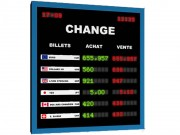 Journal lumineux devises - Hauteur des caractères : 18 mm - Nombre de lignes : 4 à 8 lignes en standard