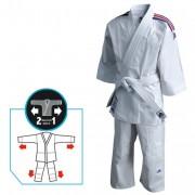 Kimono judo évolutif - Fourni avec un ourlet détachable pour allonger la longueur