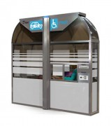 Kiosque drive pmr ergonomique - Sans rampe ni ascenseur