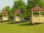 Kiosque extérieur en bois - Dimensions (mm) : 3000 x 3000 x 3400