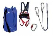 Kit antichute professionnel avec sac emballage - Longe double en Y et absorbeur d'énergie