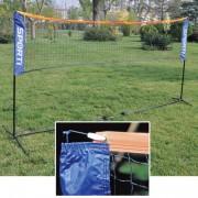 Kit badminton pliable - Longueur : 3,10 m - Hauteur : 1,50 m