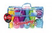 Kit bowling en plastique - Contenance : 10 quilles - 2 boules P.V.C