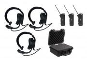 Kit communication mains libre sans fil - 2 à 6 Micros casques