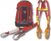 Kit complet anti chute - Sac à dos - Harnais antichutes - Longe