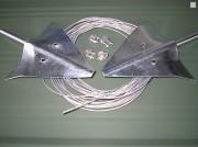 Kit d'ancrage pour abri métal - Système d'ancrage sur l'herbe