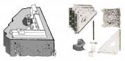 Kit d'ancrage pour sol béton abris en métal
