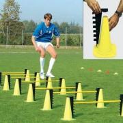 Kit d'entrainement multi hauteur - 2 cônes - 2  taquets - 1 jalon