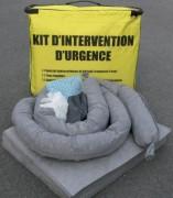 Kit d'intervention anti pollution - Absorbants d'urgence tous liquides