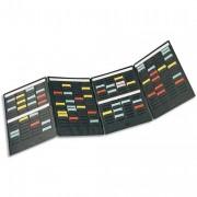 Kit de 4 volets MINI-PLANNER 4 bandes de 17 fiches indice 1,7 avec 100 fiches - NOBO