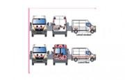 Kit de balisage pour utilitaire - Pour le balisage avant, arrière et latéral