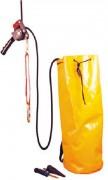 Kit de cordage de secours - Descendeur - connecteur de mousqueton - toile de cordes - cordage de travail - couteau - sac