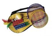 Kit de mini badminton enfants - Dimensions raquette (H x L) cm : 42 x 22.5