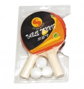 Kit de ping pong pour écoles - 2 Raquettes   3 balles