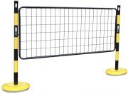 Kit de poteaux et barrières en acier - Dimensions (L x H) mm : 1300 x 1000 - 1500 x 1000