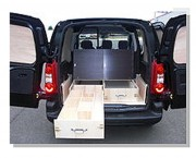 Kit de rangement sur Citroën Berlingo - Kit de rangement avec casiers tiroirs