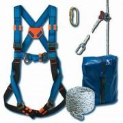 Kit de sécurité pour couvreur - Longueur corde (m) : 10 - 15 - 20 - Diamètre : 14 mm